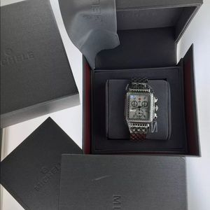 MICHELE DECO DIAMOND STAINLESS STEEL  WATCH...